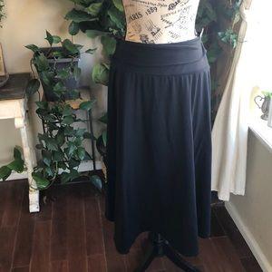 PATAGONIA Blue A-Line Midi Skirt